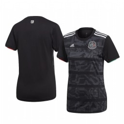 Women's Mexico Custom Home 2019 Gold Cup Short Sleeve Replica Jersey