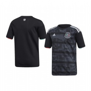 Youth Mexico Custom Home 2019 Gold Cup Short Sleeve Replica Jersey