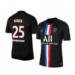 2019/20 Mitchel Bakker Paris Saint-Germain Black Fourth official Authentic Jersey
