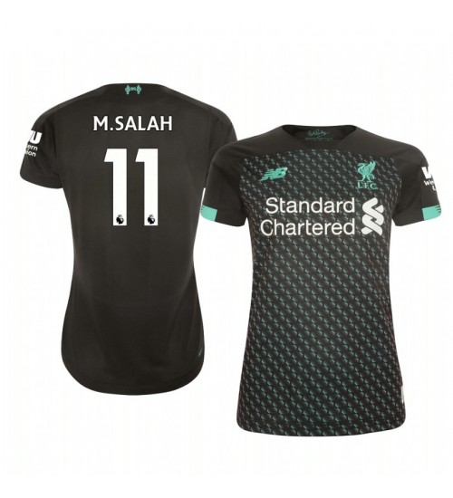 Women's 2019/20 Liverpool Mohamed Salah Authentic Jersey Alternate Third