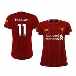 Women's 2019/20 Mohamed Salah Liverpool Home Authentic Jersey