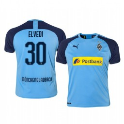 2019/20 Borussia Monchengladbach Nico Elvedi Blue Away Authentic Jersey