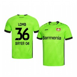 Youth 2019/20 Bayer Leverkusen Niklas Lomb Green Goalkeeper Official Authentic Jersey