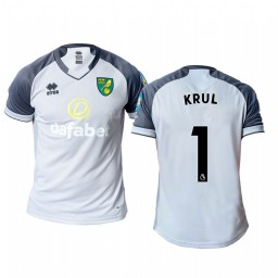 2019/20 Norwich City Tim Krul Gray Goalkeeper Away Authentic Jersey