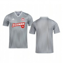 Youth 2019/20 Olympiacos Piraeus Gray Away Short Sleeve Authentic Jersey