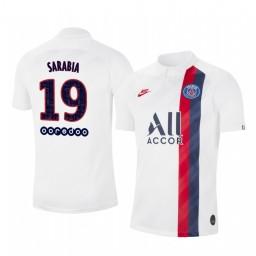 2019/20 Pablo Sarabia Paris Saint-Germain Third White Alternate Short Sleeve Authentic Jersey