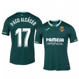 2019/20 Paco Alcacer Villarreal Away Green Official Short Sleeve Authentic Jersey