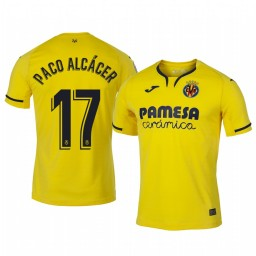 2019/20 Paco Alcacer Villarreal Home Yellow Official Short Sleeve Authentic Jersey