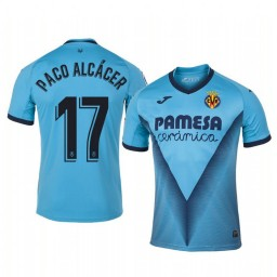 2019/20 Paco Alcacer Villarreal Third Blue Alternate Short Sleeve Authentic Jersey
