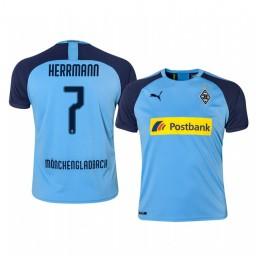 2019/20 Borussia Monchengladbach Patrick Herrmann Blue Away Authentic Jersey