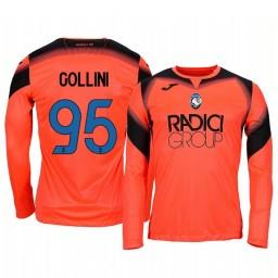 2019/20 Atalanta Pierluigi Gollini Orange Goalkeeper Long Sleeve Authentic Jersey