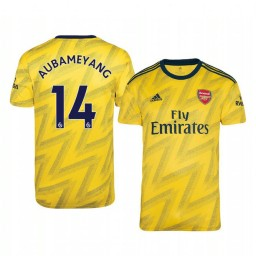 2019/20 Pierre-Emerick Aubameyang Arsenal Away Short Sleeve Authentic Jersey