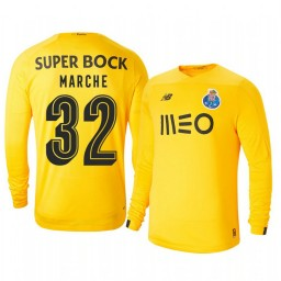 2019/20 Porto Agustin Marchesin Yellow Goalkeeper Third Authentic Jersey