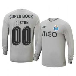 2019/20 Porto Custom Gray Goalkeeper Away Authentic Jersey