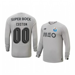 Youth 2019/20 Porto Custom Gray Goalkeeper Away Authentic Jersey