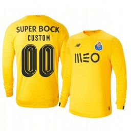 2019/20 Porto Custom Yellow Goalkeeper Third Authentic Jersey