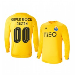 Youth 2019/20 Porto Custom Yellow Goalkeeper Third Authentic Jersey