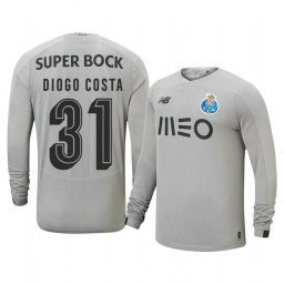 2019/20 Porto Diogo Costa Gray Goalkeeper Away Authentic Jersey