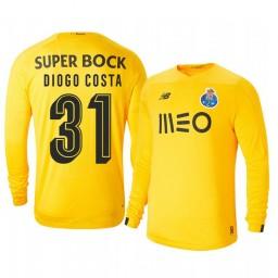 2019/20 Porto Diogo Costa Yellow Goalkeeper Third Authentic Jersey