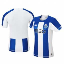 Women's 2019/20 Porto Home Blue White Official Short Sleeve Authentic Jersey