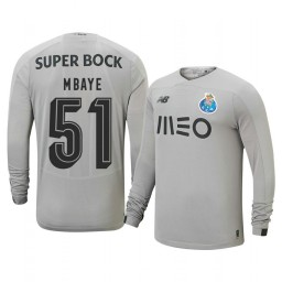 2019/20 Porto Mouhamed Mbaye Gray Goalkeeper Away Authentic Jersey