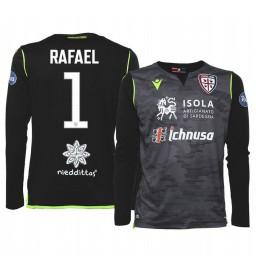Youth 2019/20 Cagliari Calcio Rafael Black Goalkeeper Home Authentic Jersey