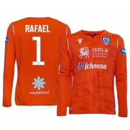 Youth 2019/20 Cagliari Calcio Rafael Orange Goalkeeper Away Authentic Jersey