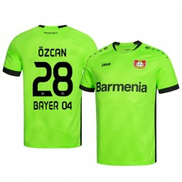 2019/20 Bayer Leverkusen Ramazan Ozcan Green Goalkeeper Official Authentic Jersey
