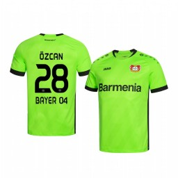 Youth 2019/20 Bayer Leverkusen Ramazan Ozcan Green Goalkeeper Official Authentic Jersey