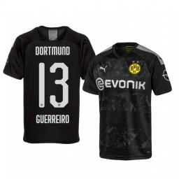 2019/20 Borussia Dortmund Raphael Guerreiro Black Away Authentic Jersey