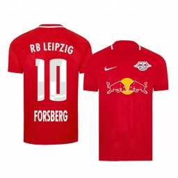 2019/20 Emil Forsberg RB Leipzig Fourth Red Short Sleeve Authentic Jersey