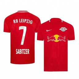2019/20 Marcel Sabitzer RB Leipzig Fourth Red Short Sleeve Authentic Jersey