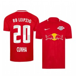 2019/20 Matheus Cunha RB Leipzig Fourth Red Short Sleeve Authentic Jersey