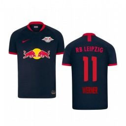 Youth 2019/20 RB Leipzig Timo Werner Black Away Short Sleeve Authentic Jersey