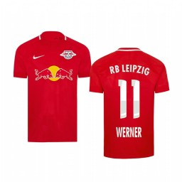 Youth 2019/20 RB Leipzig Timo Werner Red Fourth Short Sleeve Authentic Jersey