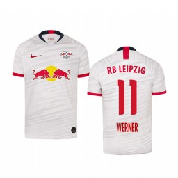 Youth 2019/20 RB Leipzig Timo Werner White Home Short Sleeve Authentic Jersey