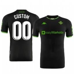 2019/20 Real Betis Custom Black Away Short Sleeve Authentic Jersey
