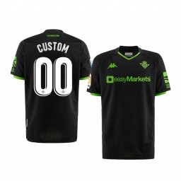 Youth 2019/20 Real Betis Custom Black Away Short Sleeve Authentic Jersey