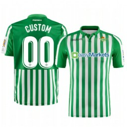 2019/20 Real Betis Custom Green Home Short Sleeve Authentic Jersey