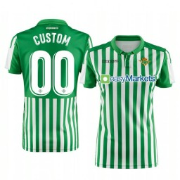 Women's 2019/20 Real Betis Custom Green Home Short Sleeve Authentic Jersey