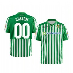Youth 2019/20 Real Betis Custom Green Home Short Sleeve Authentic Jersey