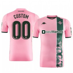 2019/20 Real Betis Custom Pink Third Short Sleeve Authentic Jersey