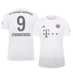 2019/20 Bayern Munich Robert Lewandowski White Away Authentic Jersey