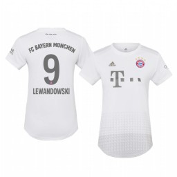Women's 2019/20 Bayern Munich Robert Lewandowski White Away Authentic Jersey