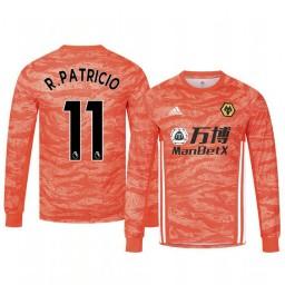 2019/20 Wolverhampton Wanderers Rui Patricio Orange Goalkeeper Away Authentic Jersey