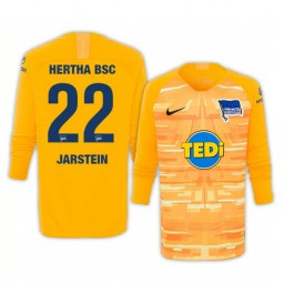 2019/20 Hertha BSC Rune Jarstein Yellow Goalkeeper Long Sleeve Authentic Jersey