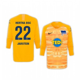 Youth 2019/20 Hertha BSC Rune Jarstein Yellow Goalkeeper Long Sleeve Authentic Jersey
