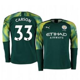 2019/20 Manchester City Scott Carson Green Home Goalkeeper Authentic Jersey