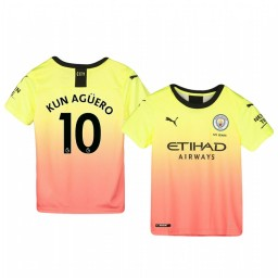 Youth 2019/20 Manchester City Sergio Agüero Authentic Jersey Alternate Third