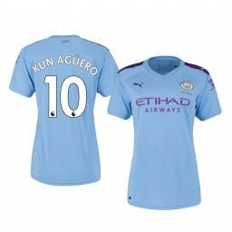 Women's 2019/20 Sergio Agüero Manchester City Home Authentic Jersey